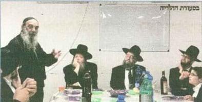 עקיבא קאלשין התורם ויהודה גול המושתל עושים סעודת הודיה